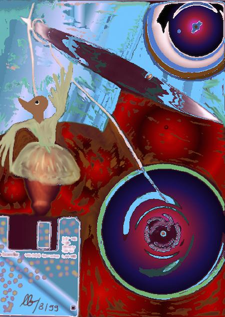 hans a. lasslob (1947-2007), kleine tänzerin - collage 1 (1999/08)